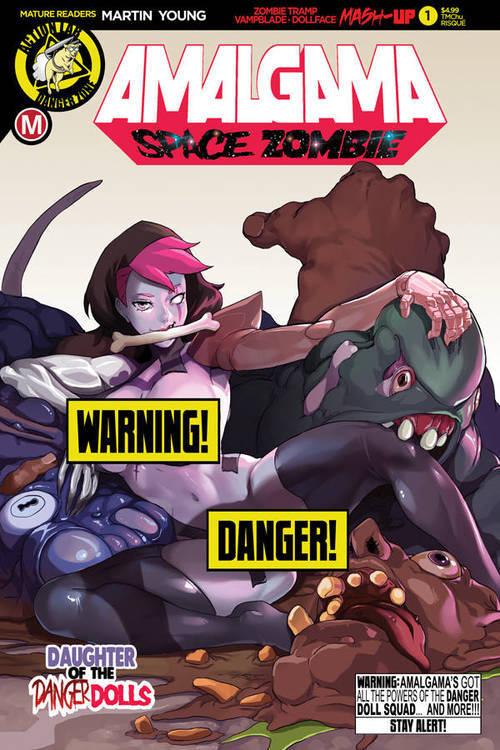 Action lab entertainment amalgama space zombie 1 cvr f tmchu risque mr 20190615 rock shop comics