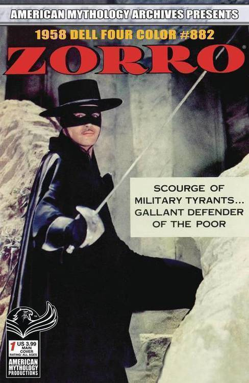 American mythology productions am archives zorro 1958 dell four color 882 20191031