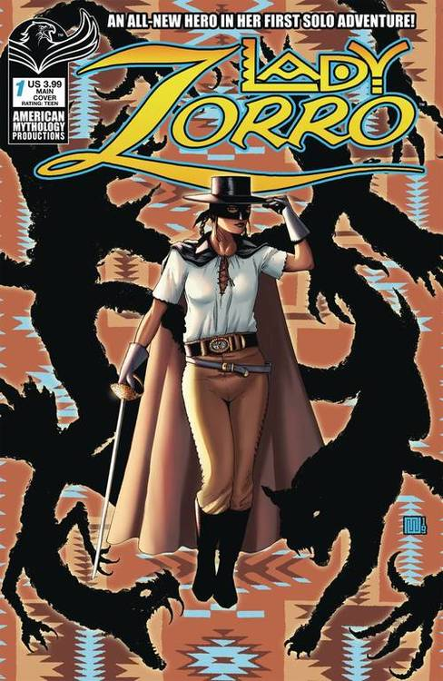 American mythology productions lady zorro 1 cvr a wolfer 20200114 jump city comics