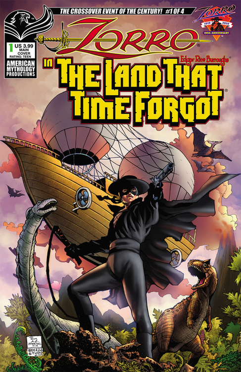 American mythology productions zorro in land that time forgot 20200730