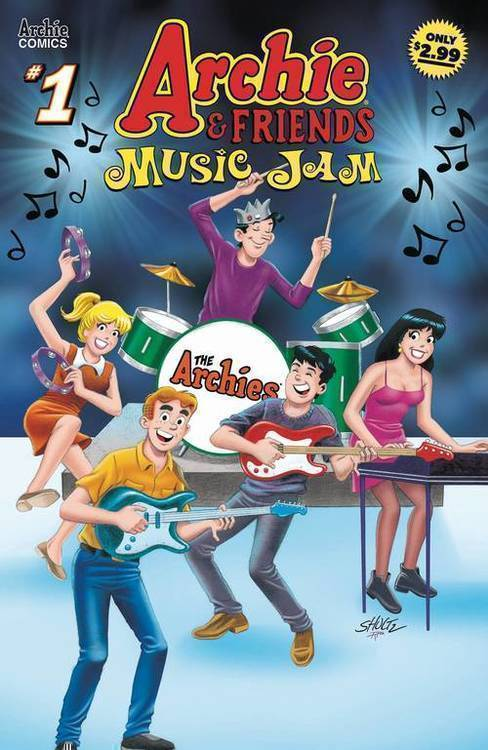 Archie comic publications archie friends music jam 20181130