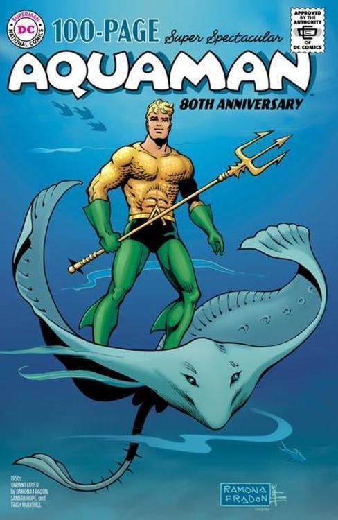 Dc comics aquaman 80th anniversary 100 page super spectacular 1 one shot cvr c ramona fradon sandra hope 1950s var 20210528
