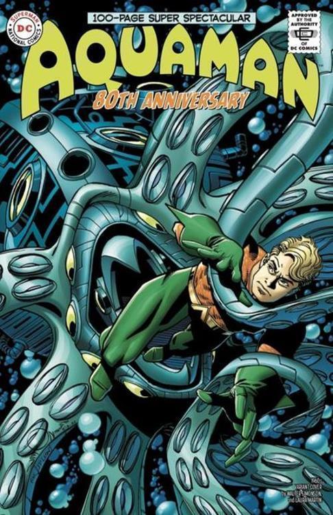 Dc comics aquaman 80th anniversary 100 page super spectacular 1 one shot cvr d walter simonson 1960s var 20210528