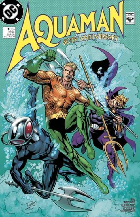Dc comics aquaman 80th anniversary 100 page super spectacular 1 one shot cvr f chuck patton kevin nowlan 1980s var 20210528