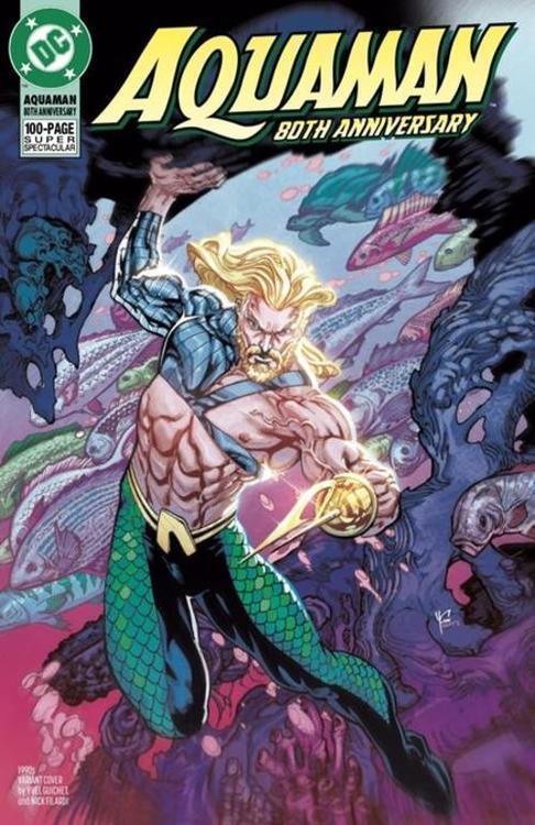 Dc comics aquaman 80th anniversary 100 page super spectacular 1 one shot cvr g yvel guichet 1990s var 20210528