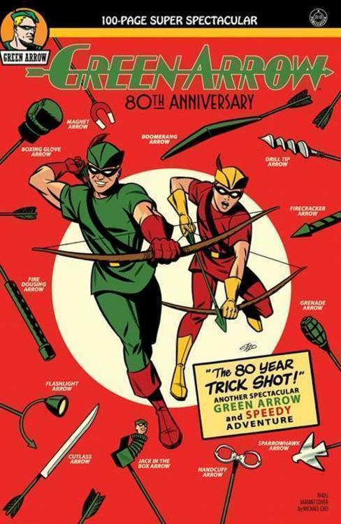 Dc comics green arrow 80th anniversary 100 page super spectacular 1 cover b michael cho 1940s variant 20210325