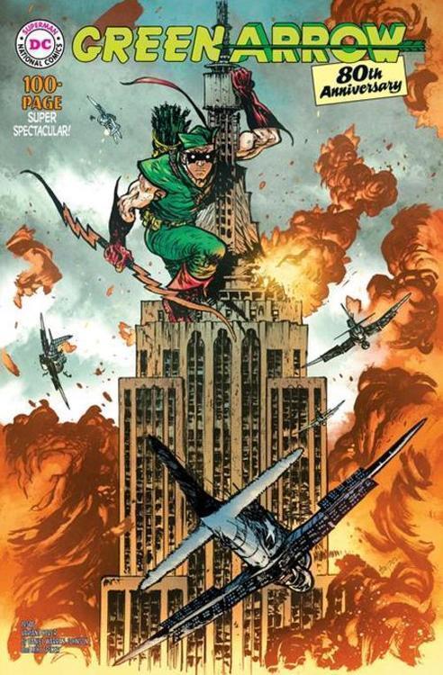Dc comics green arrow 80th anniversary 100 page super spectacular 1 cover c daniel warren johnson 1950s variant 20210325