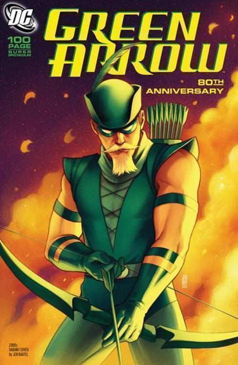 Dc comics green arrow 80th anniversary 100 page super spectacular 1 cover h jen bartel 2000s variant 20210325