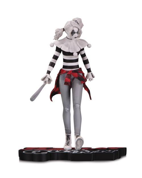 Dc comics harley quinn red white and black by steve pugh statue 20200122 jump city comics