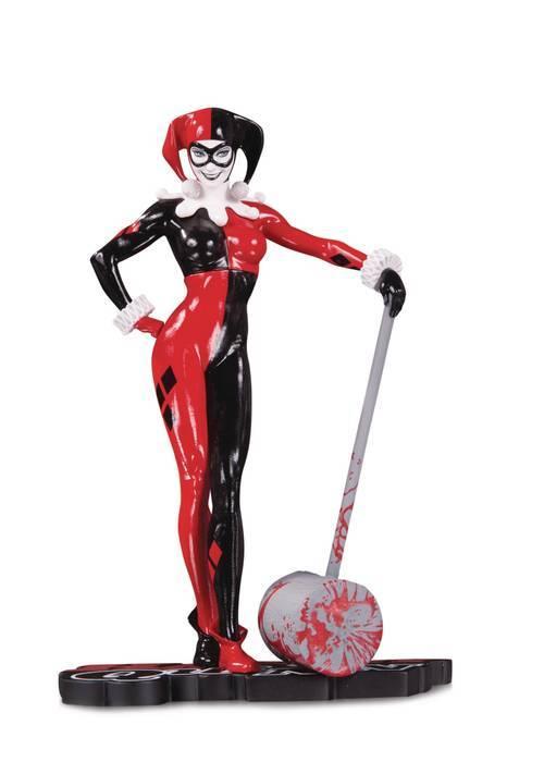 Dc comics harley quinn red white and black statue by adam hughes 20190830 jump city comics