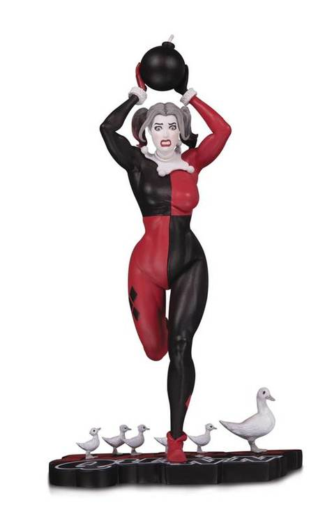 Dc comics harley quinn red white black statue by frank cho 20190124 jump city comics
