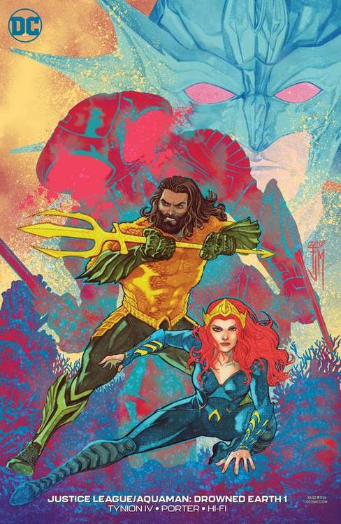 Dc comics justice league aquaman drowned earth 1 var ed 20181026 jhu comic books