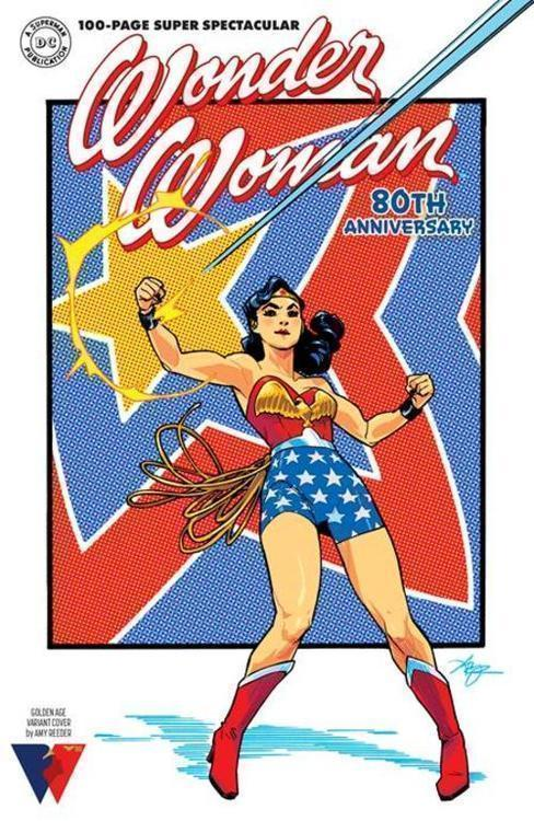 Dc comics wonder woman 80th anniversary 100 page super spectacular 1 one shot cvr f amy reeder golden age variant 20210728