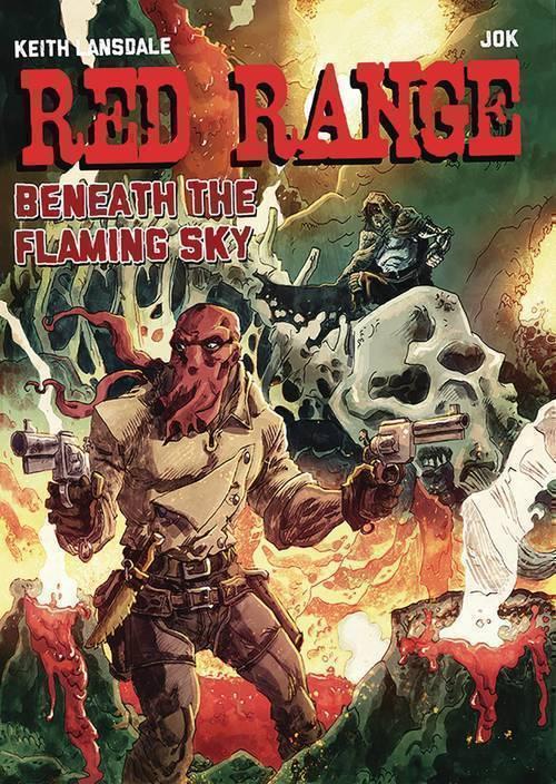 Red Range Beneath Flaming Sky