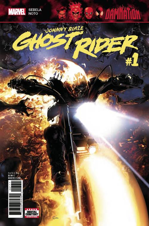 Marvel comics damnation johnny blaze ghost rider 20171231