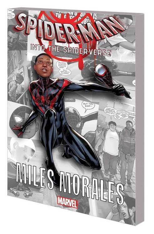 Marvel comics spider man into the spider verse graphic novel tpb miles morales 20180801