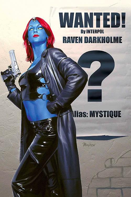 Marvel comics x men black mystique